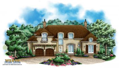 French country home plan chateau montemere home plan for French country elevations