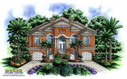 Coastal Floor Plan - Dos Palmas Home Plan