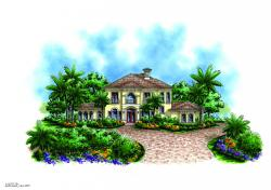 Martinique Home Plan-Spanish House Plans