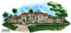 Casa Hermosa House Plan-Tuscan Style House Plans