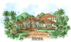 mediterranean floor plan - Pescara House Plan