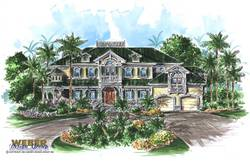 Osprey Cove Home Plan-Olde Florida Home Plans