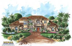 Mediterranean Floor Plan | Bellisario House Plan
