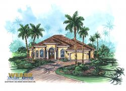 Guana Cay House Plan-One Story House Plans