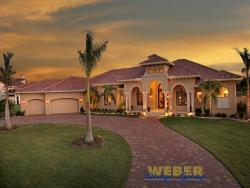 Villa Napoli House Plan-Tuscan Style House Plans
