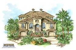 mediterranean floor plan - Portofino House Plan