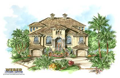 mediterranean house plan - Portofino House Plan