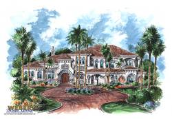 La Casa Del Sol House Plan-Tuscan Style House Plans