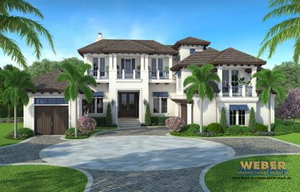 West indies home plan admiral model weber design group for West indies home plans