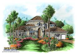 mediterranean floor plan - Savona House Plan