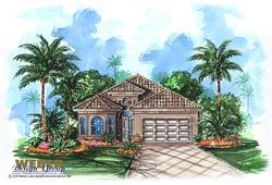 Mediterranean Floor Plan - Catalina Home Plan