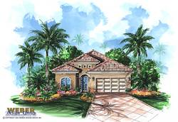 Mediterranean Floor Plan - Montserrat Home Plan