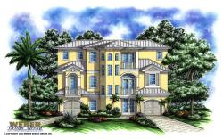 Port Antigua Home Plan-Three Story House Plans