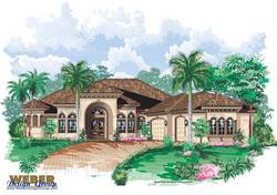 Sirocco House Plan-Tuscan Style House Plans