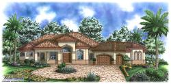 Riviera House Plan-Mediterranean House Plans