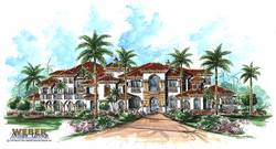Bellagio House Plan-Waterfront House Plans