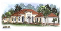 Essex House Plan-Mediterranean House Plans