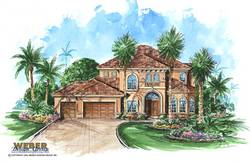 Montecito House Plan-Mediterranean House Plans