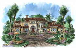Vasari House Plan-Spanish House Plans