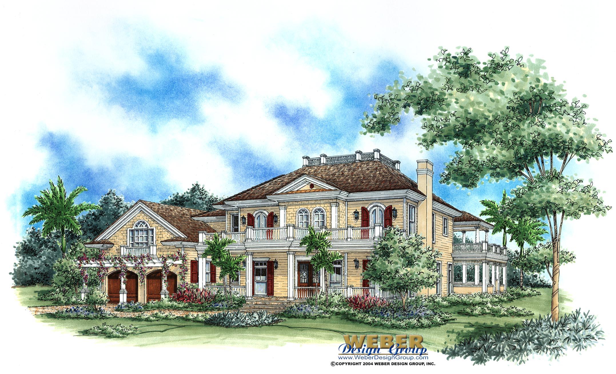 Savannah Home Plan Weber Design Group