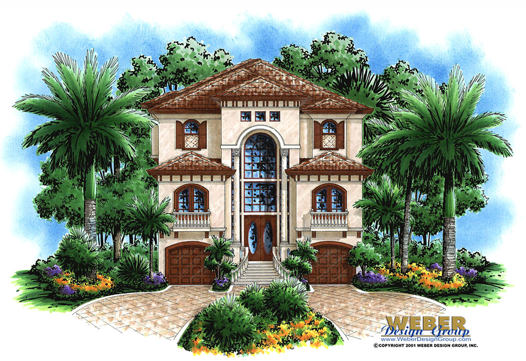 Coastal house plan ashley house plan weber design group for 3 floor house design