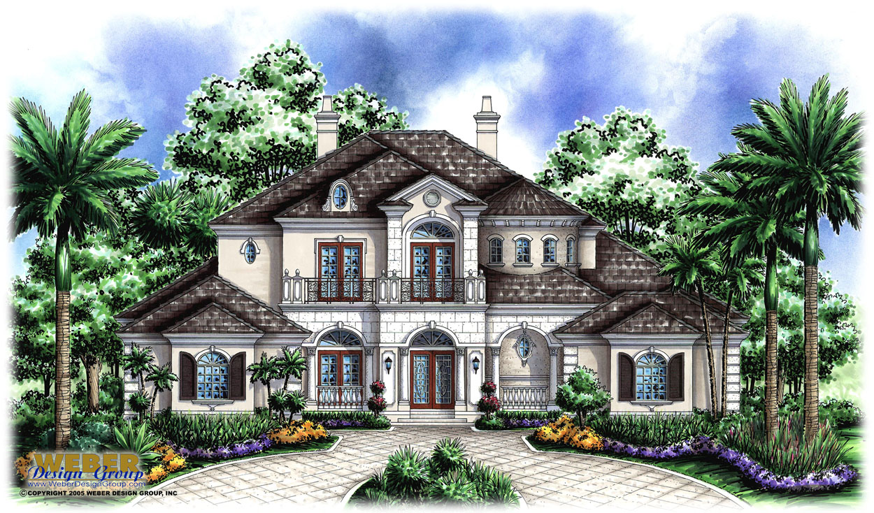 French country house plans with detached garage for French home plans