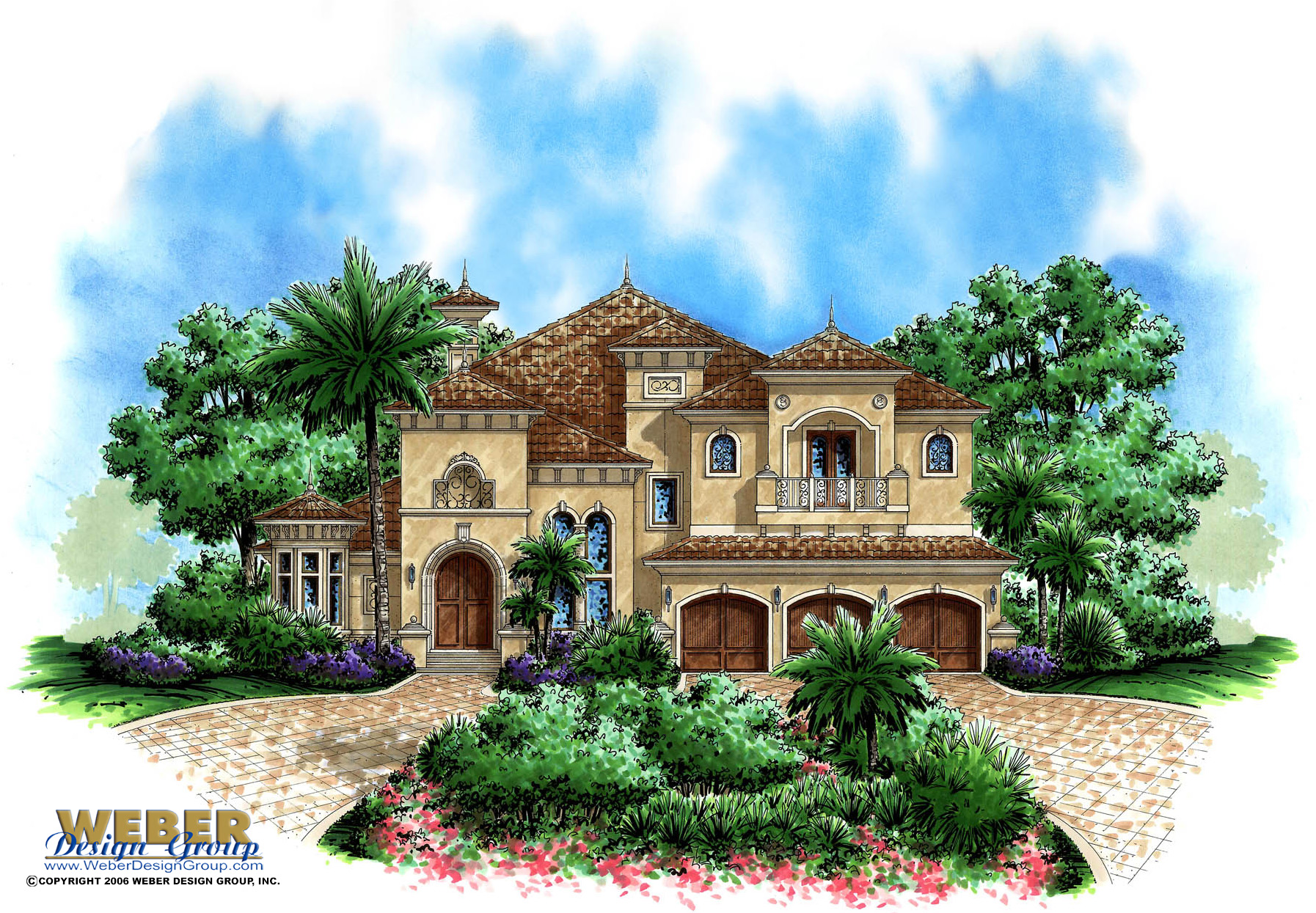 Tuscan house plan aurora ii house plan weber design group for Tuscan house plans