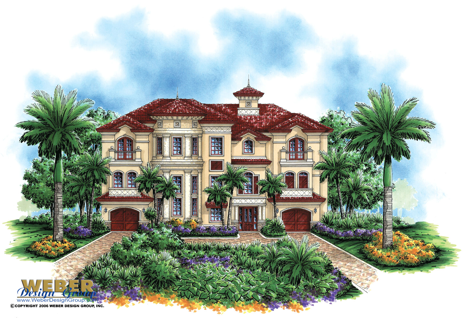 Luxury mediterranean house plan castello dal mar house for Mediterranean elevation