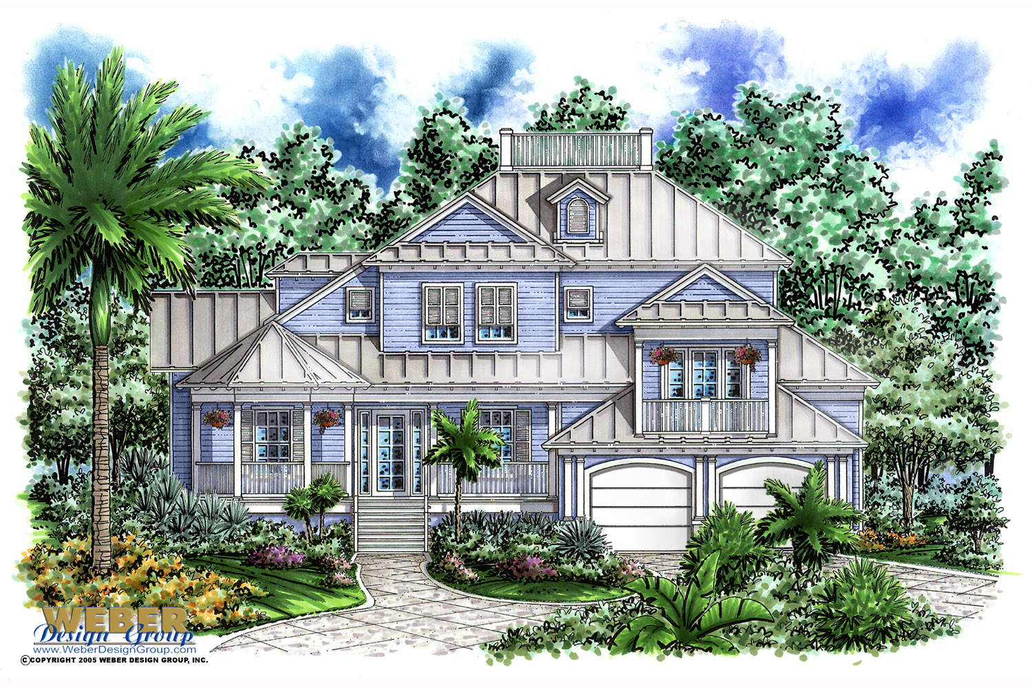 Olde florida house design islander house plan weber for Florida home designs