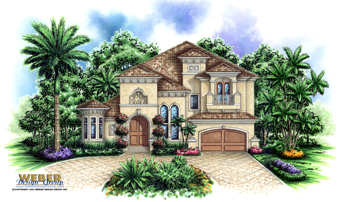Tuscan house plan aurora house plan weber design group for Tuscan house plan