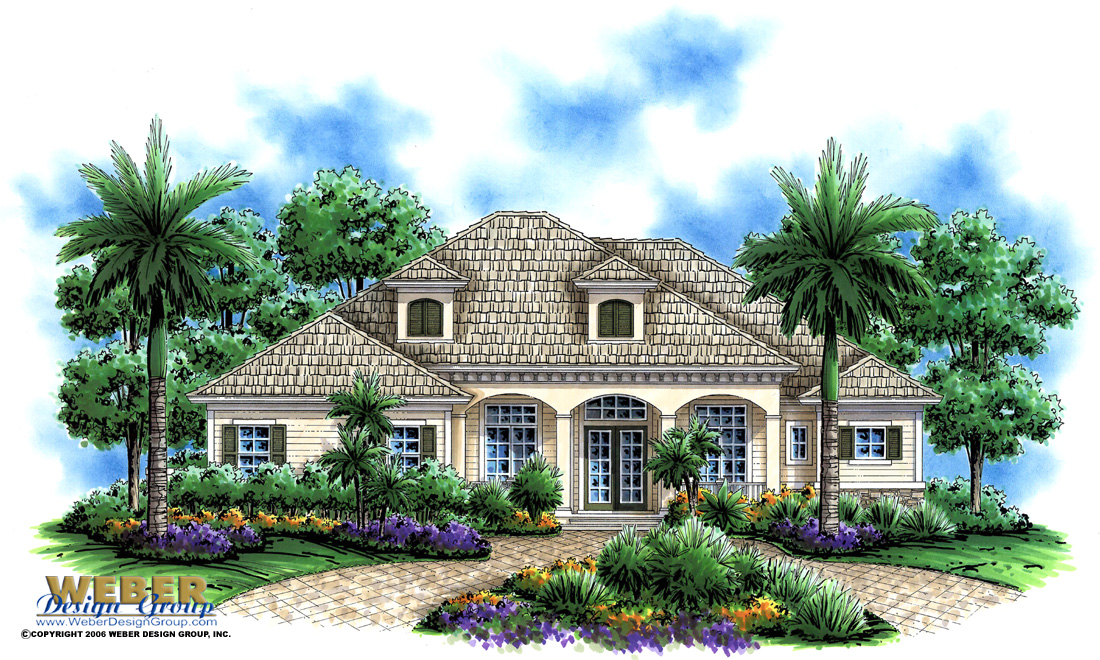 Olde Florida House Design Lexington Manor Home Plan