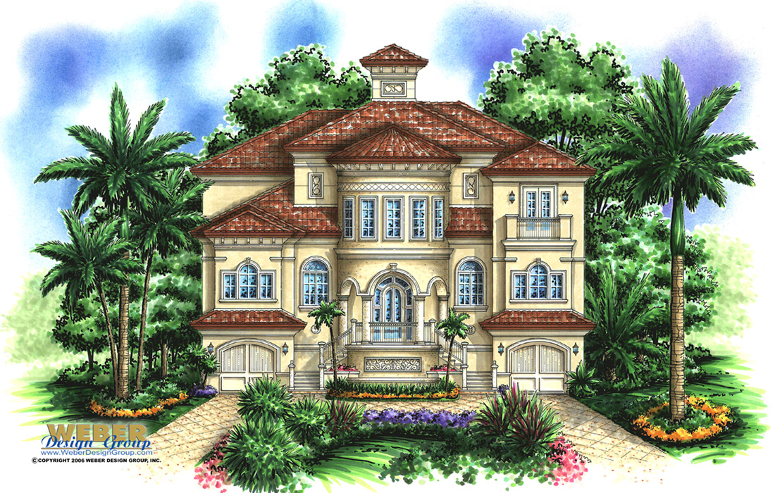 Coastal home plan casa bella iii house plan weber for Casa bella homes
