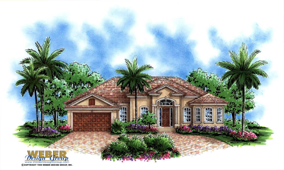 Single story elevations joy studio design gallery best for Florida mediterranean house plans
