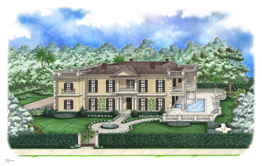 Georgian Plantation Home Plans