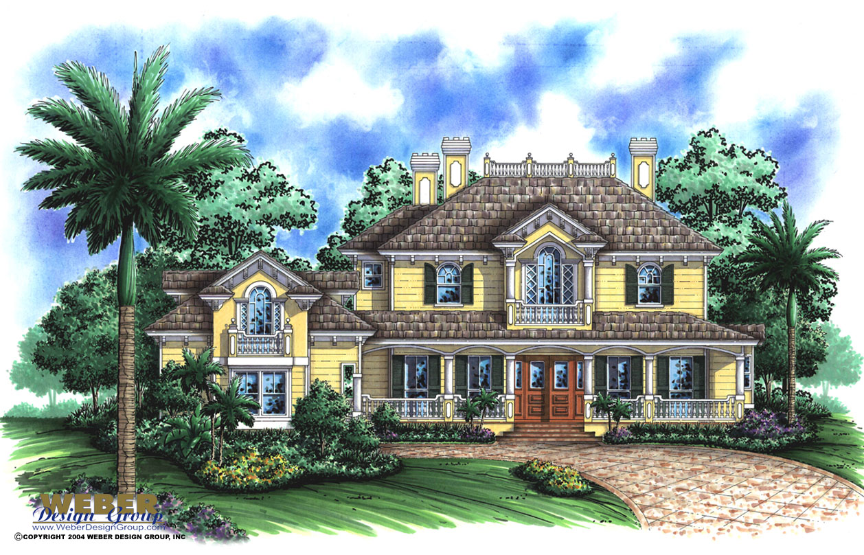 Florida style home design ashbrook home plan weber for Florida house designs