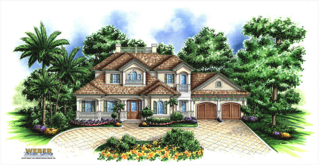 House plans golf course home house design plans for Golf course home designs