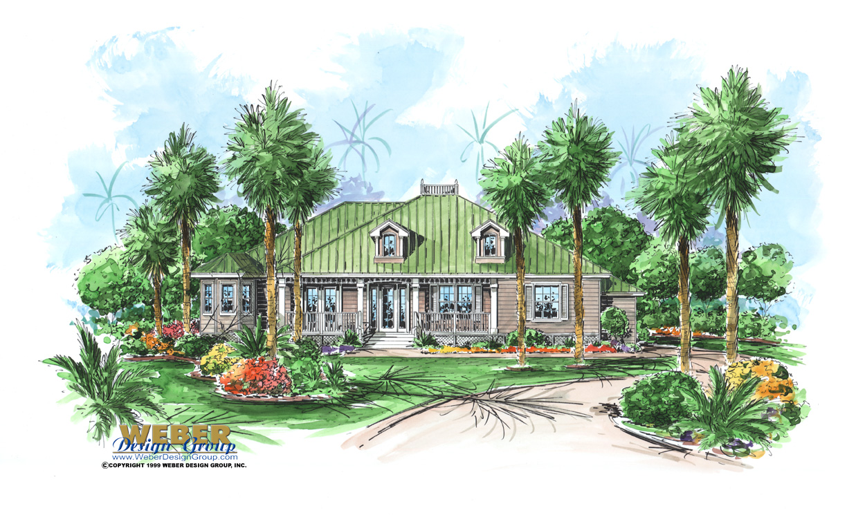 Florida waterfront house plans house design plans for Florida cottage plans