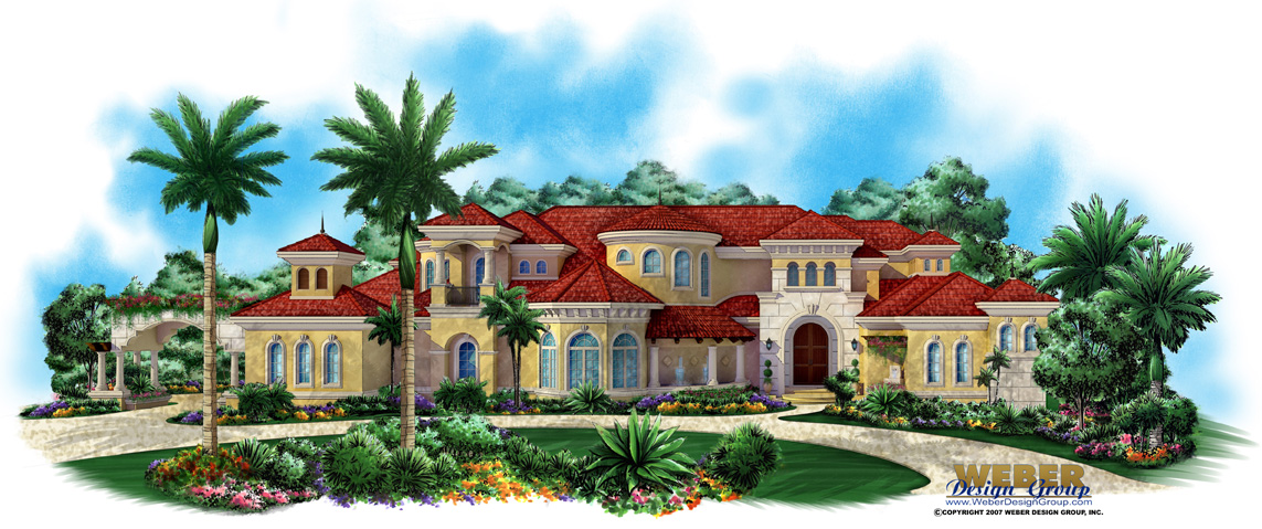 Mediterranean house design villagio toscana house plan for Weber design