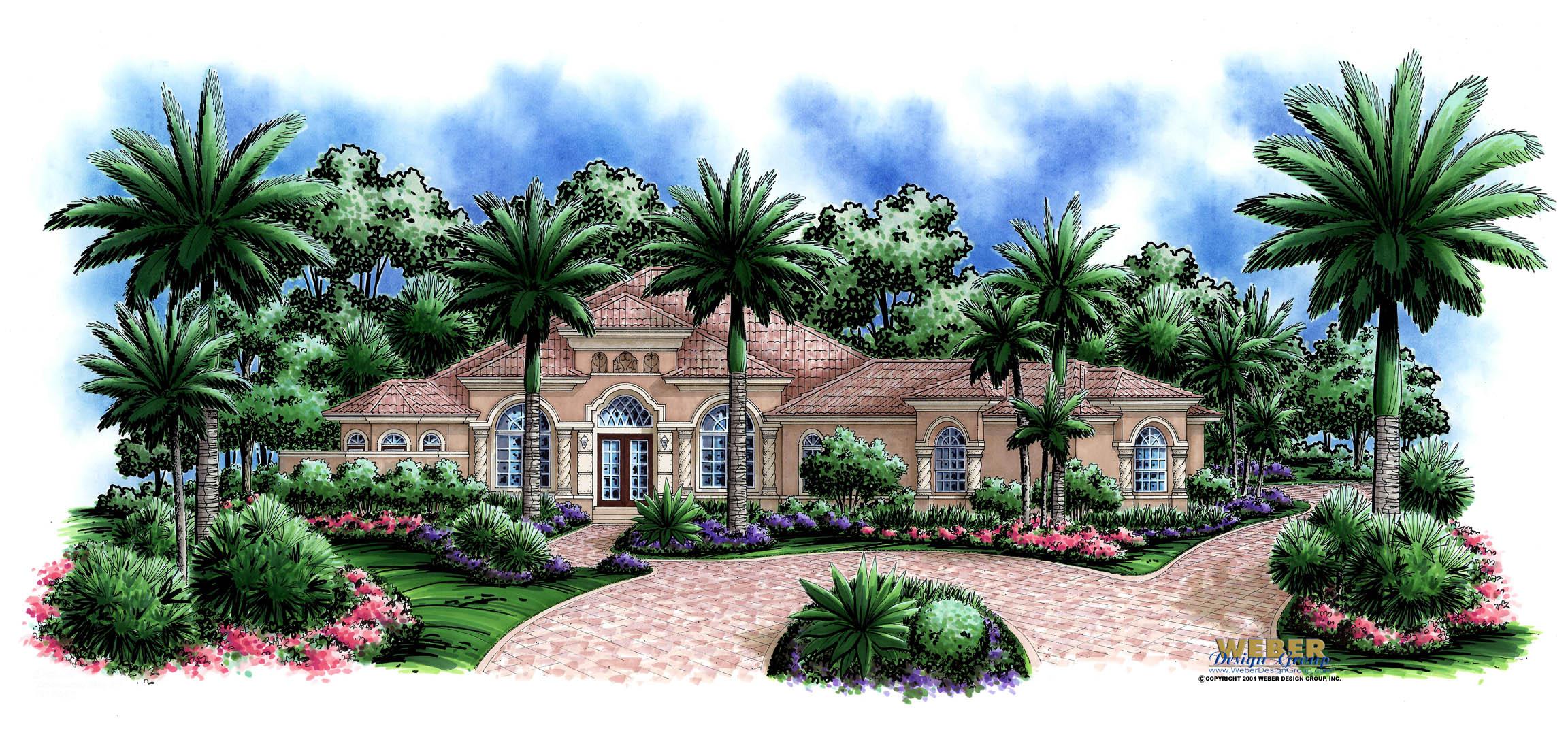 Mediterranean house design colonnade house plan weber for Weber design group