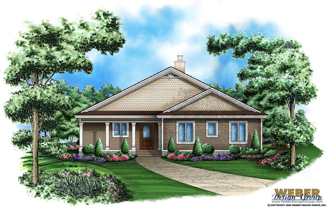 Hickory oaks home plan cottage home plan weber design for Weber house plans