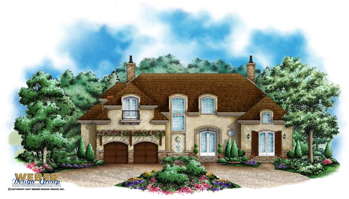 French Country Home Plan Chateau Montemere Home Plan