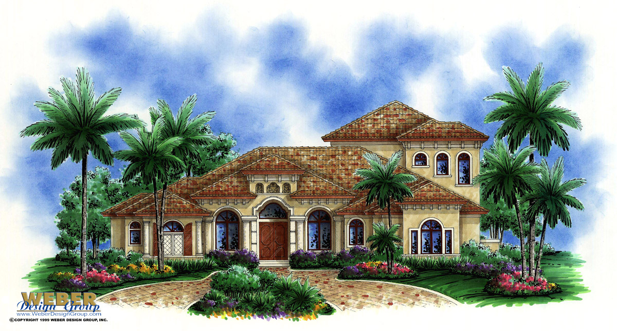 Mediterranean home plan valencia ii home plan weber for Mediterranean modular homes