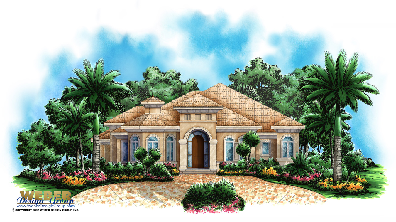 Mediterranean home plan san marcos home plan weber for Mediterranean elevation