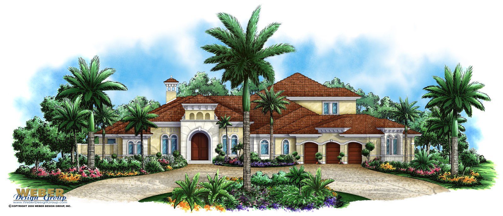 Mediterranean house plan artesia house plan weber for Mediterranean elevation