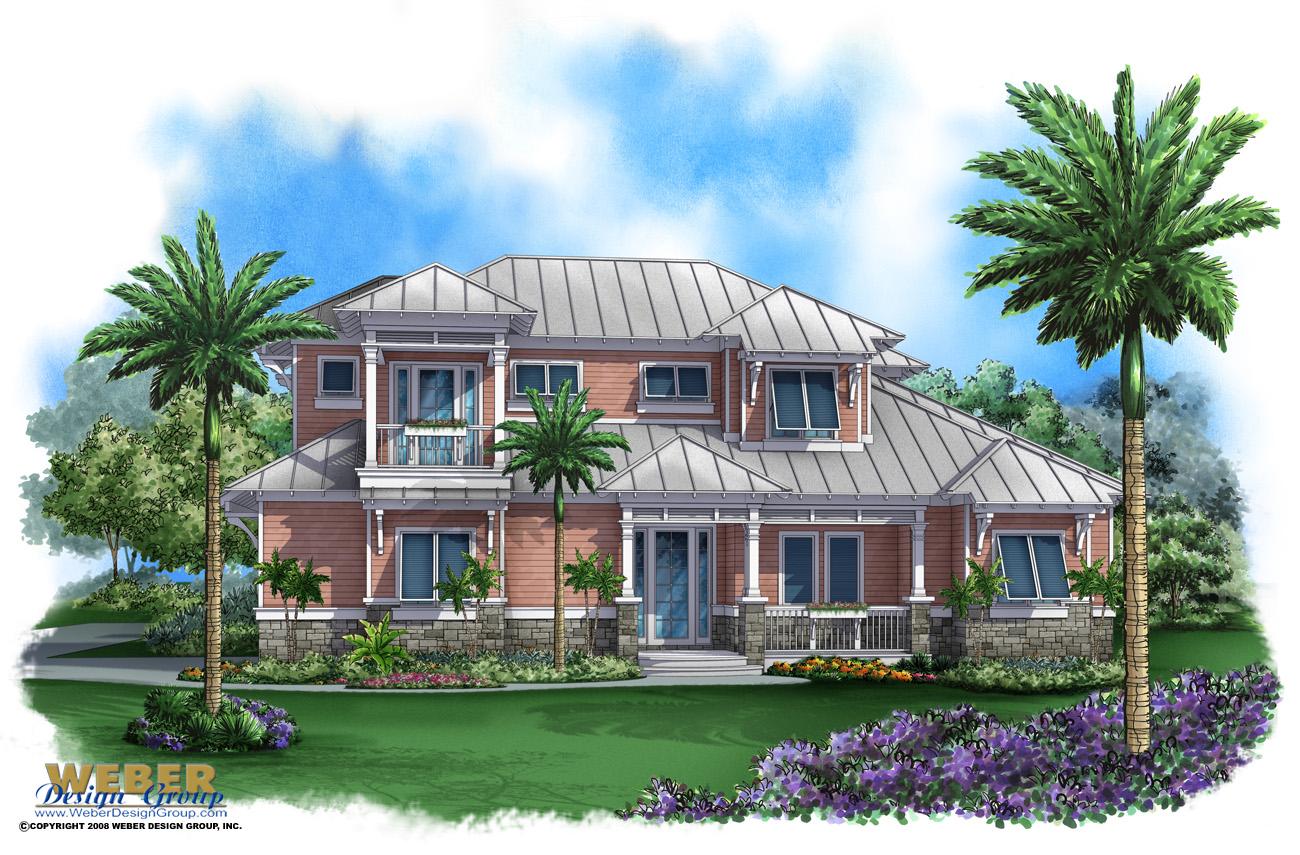 Coastal house plan bay cottage house plan weber design for Weber design group