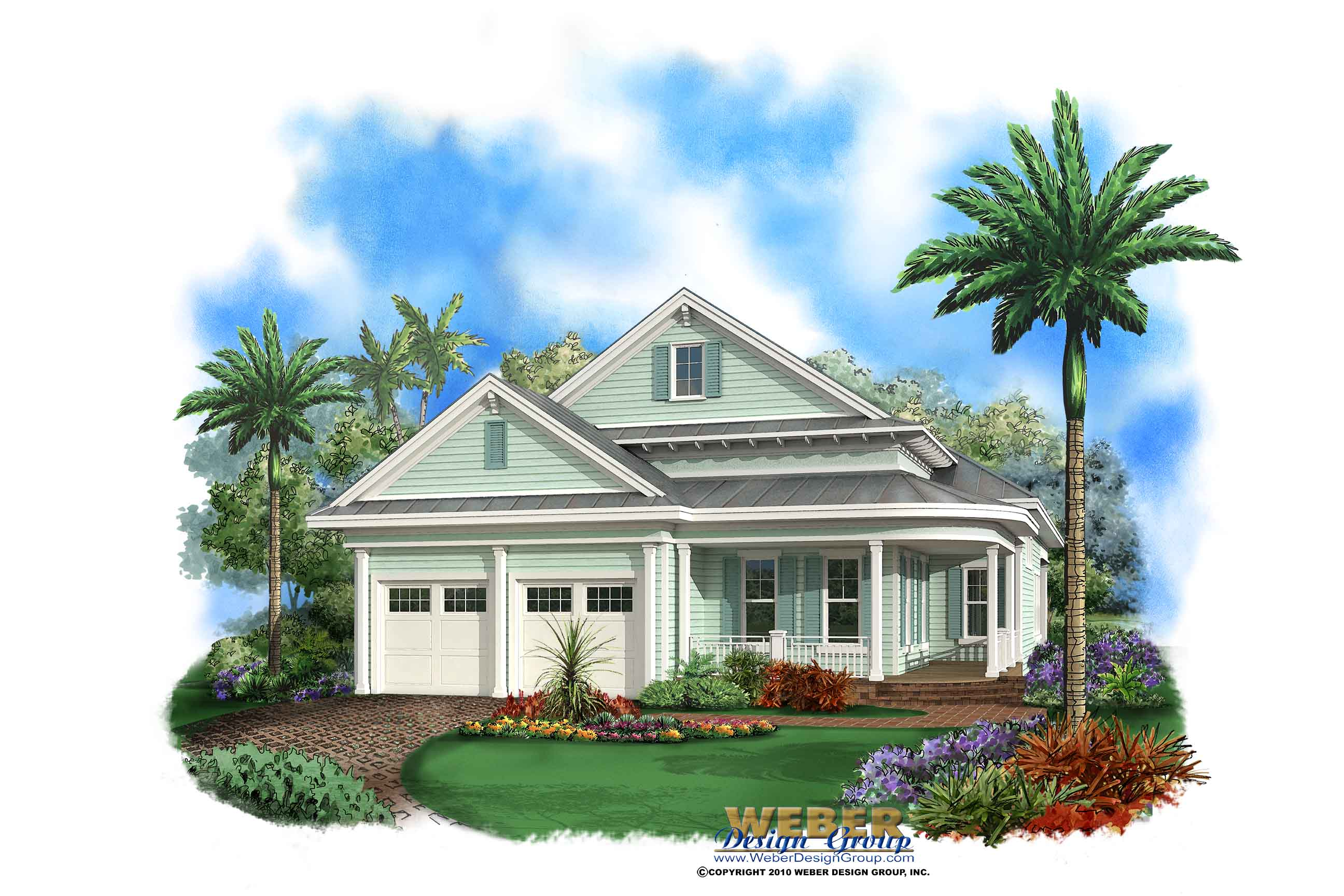 Florida house plan coastal house plan waterfront house for Two story beach house plans