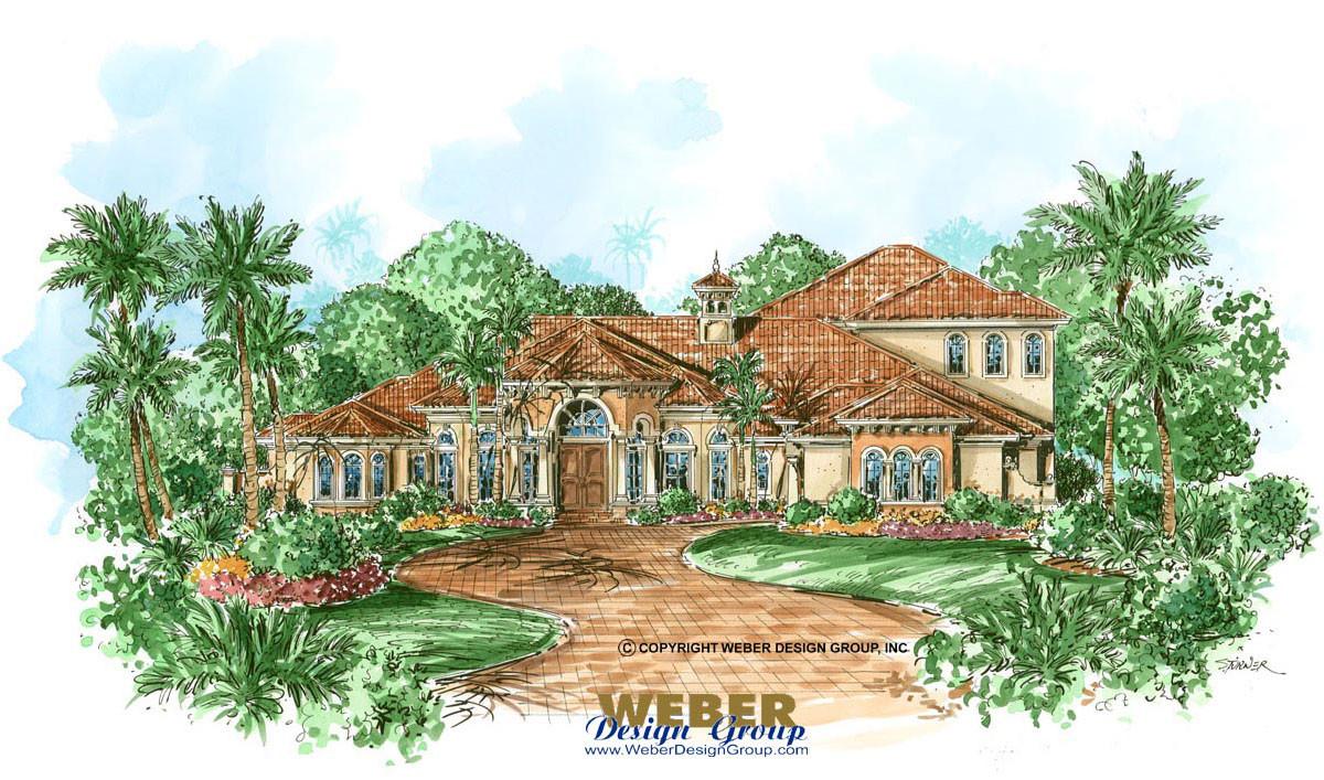 Mediterranean home design pescara house plan weber for Weber design group