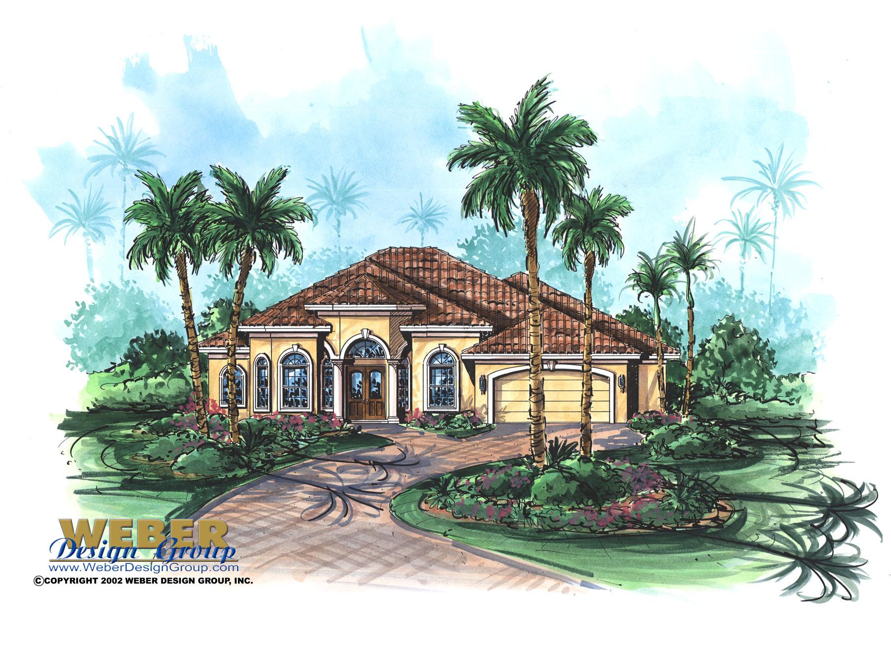 Mediterranean House Plan Guana Cay House Plan Weber
