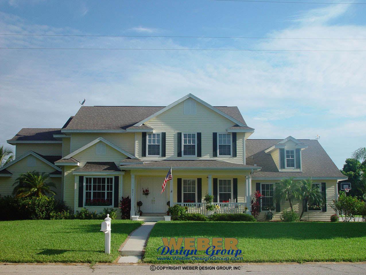 Florida house plan st james home plan weber design group for Small florida home plans