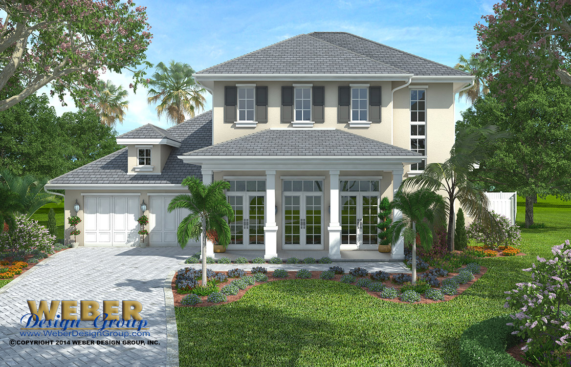 French Colonial Home Plan Weston Home Plan Weber
